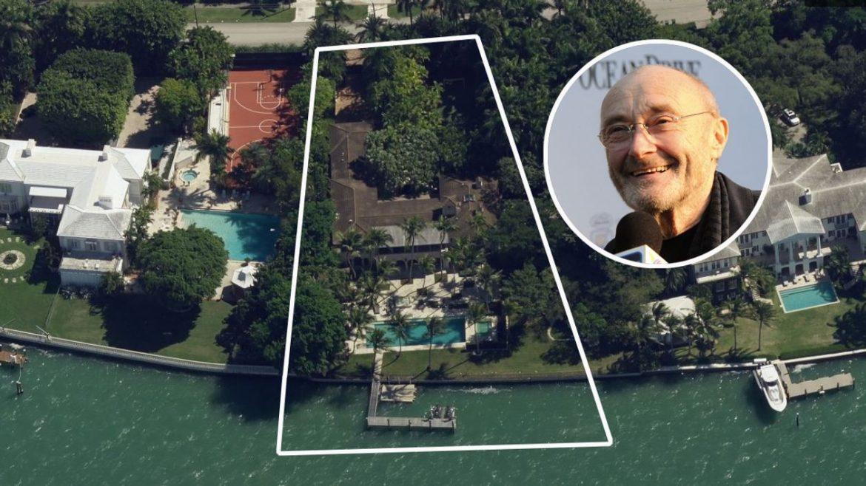 Фил Коллинз продает особняк в Майами-Бич за 40 миллионов долларов